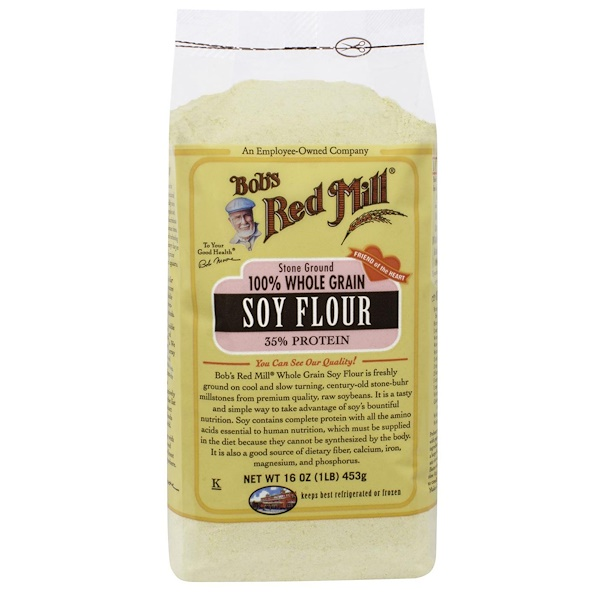 Bob's Red Mill, 100% Whole Grain Soy Flour, 16 oz (453 g)