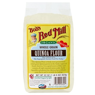 Bob's Red Mill, Organic Whole Grain Quinoa Flour, 22 oz (623 g)