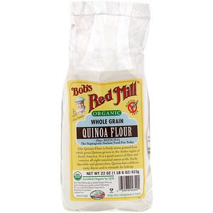 Бобс Рэд Милл, Organic Quinoa Flour, Whole Grain, 22 oz (623 g) отзывы покупателей