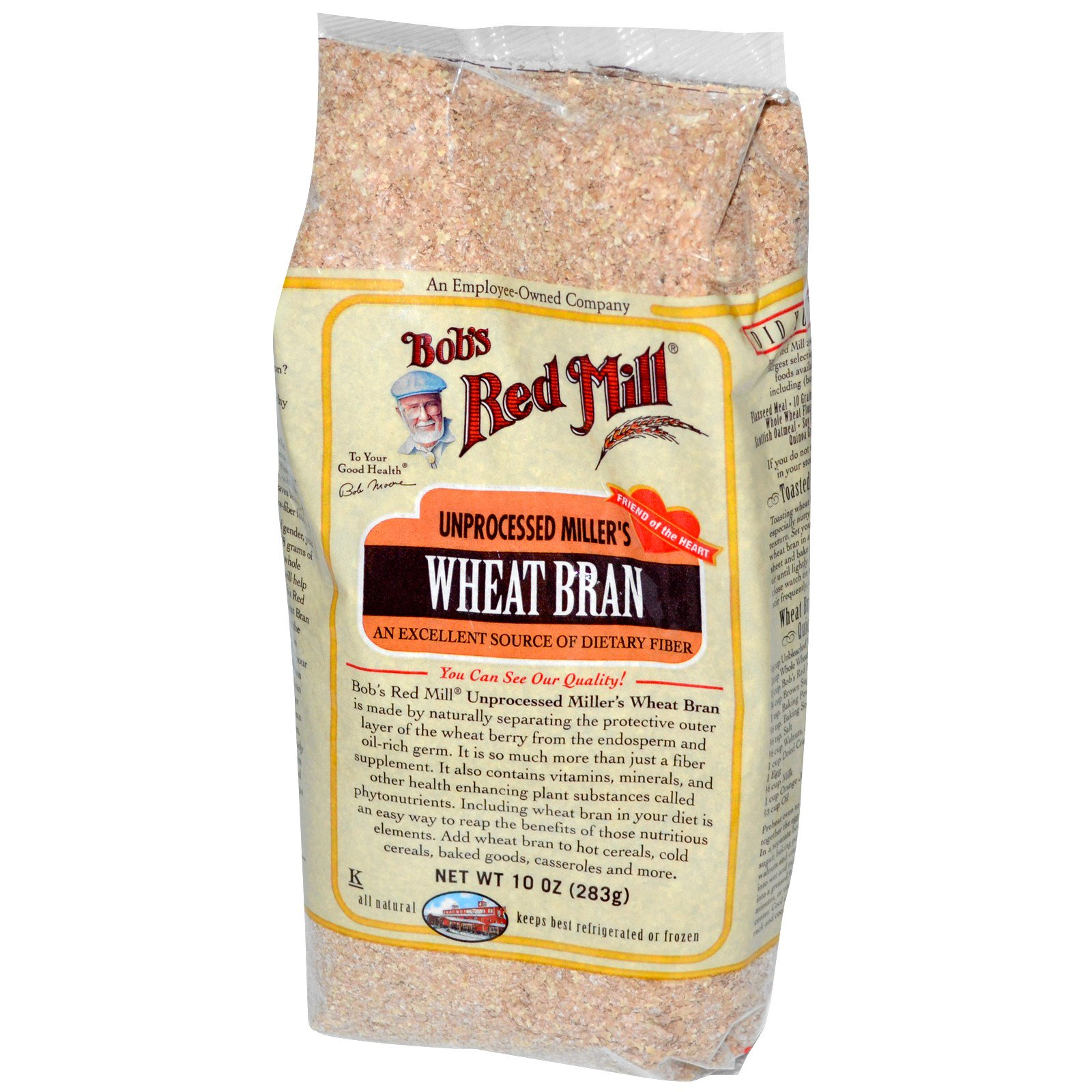 Bob's Red Mill, Unprocessed Miller's Wheat Bran, 10 oz (283