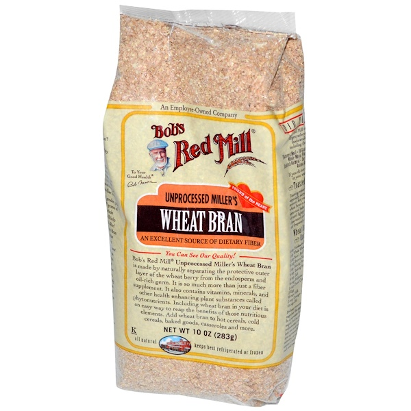 Bob's Red Mill, Unprocessed Miller's Wheat Bran, 10 oz (283 g) (Discontinued Item)