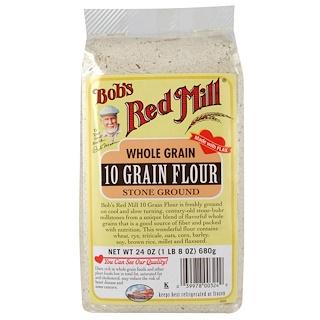 Bob's Red Mill, 10 Grain Flour, Whole Grain, 24 oz (680 g)