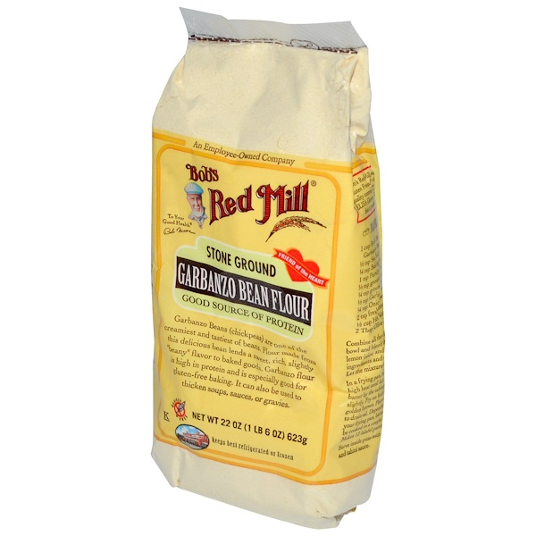 Bob's Red Mill, Garbanzo Bean Flour, Gluten Free, 22 oz (623 g) (Discontinued Item)