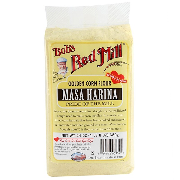 Bob's Red Mill, Golden Corn Flour, Masa Harina, 24 oz (680 g) (Discontinued Item)