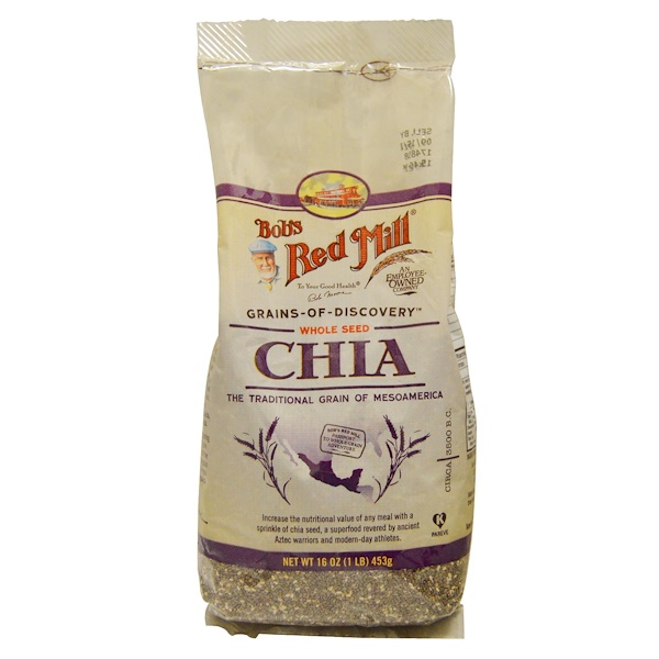 Bob's Red Mill, Whole Seed Chia, 16 oz (453 g) (Discontinued Item)