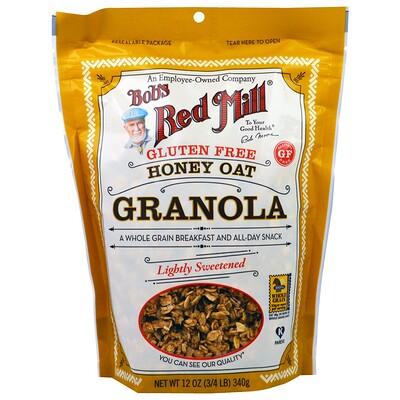 Купить Bob's Red Mill Gluten Free Honey Oat Granola, 12 oz (340 g)