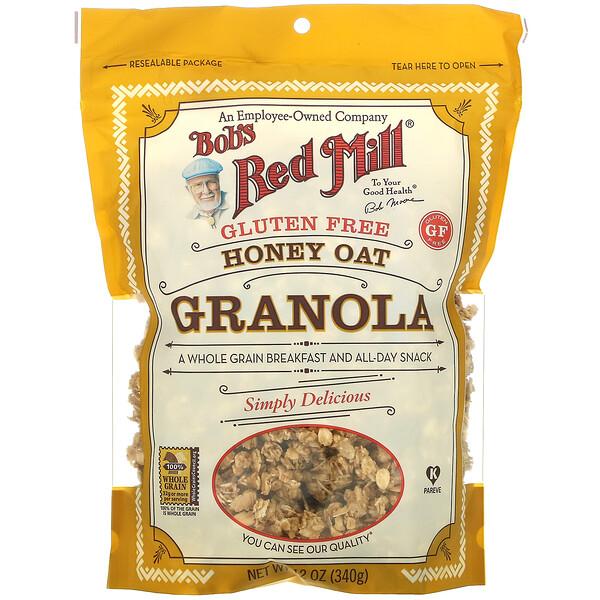 Granola Sin Gluten, Avena y Miel, 12 oz (340 g)
