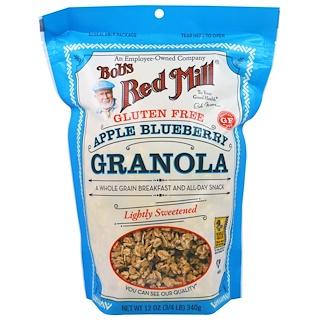 Bob's Red Mill, Granola Sin Gluten, Manzanas y Arándanos, 12 oz (340 g)