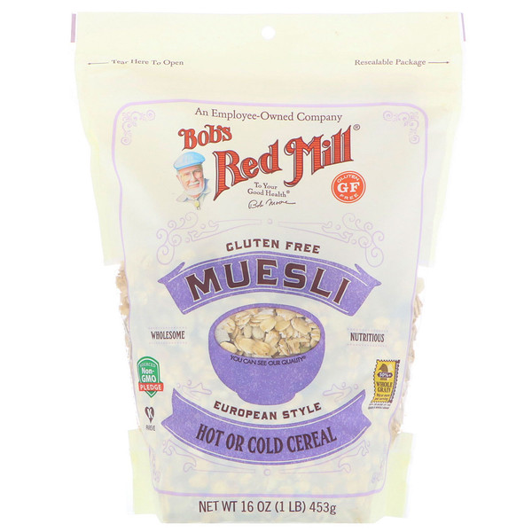 Bob's Red Mill, Muesli, sin gluten, 16 oz (453 g)