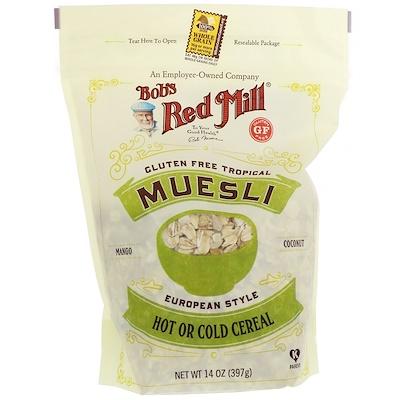 Bob's Red Mill Muesli, Tropical, Gluten Free, 14 oz (397 g)