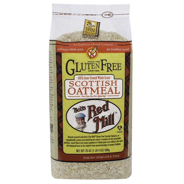 Bob's Red Mill, Scottish Oatmeal, Whole Grain, Gluten Free, 20 oz (566 g) (Discontinued Item)