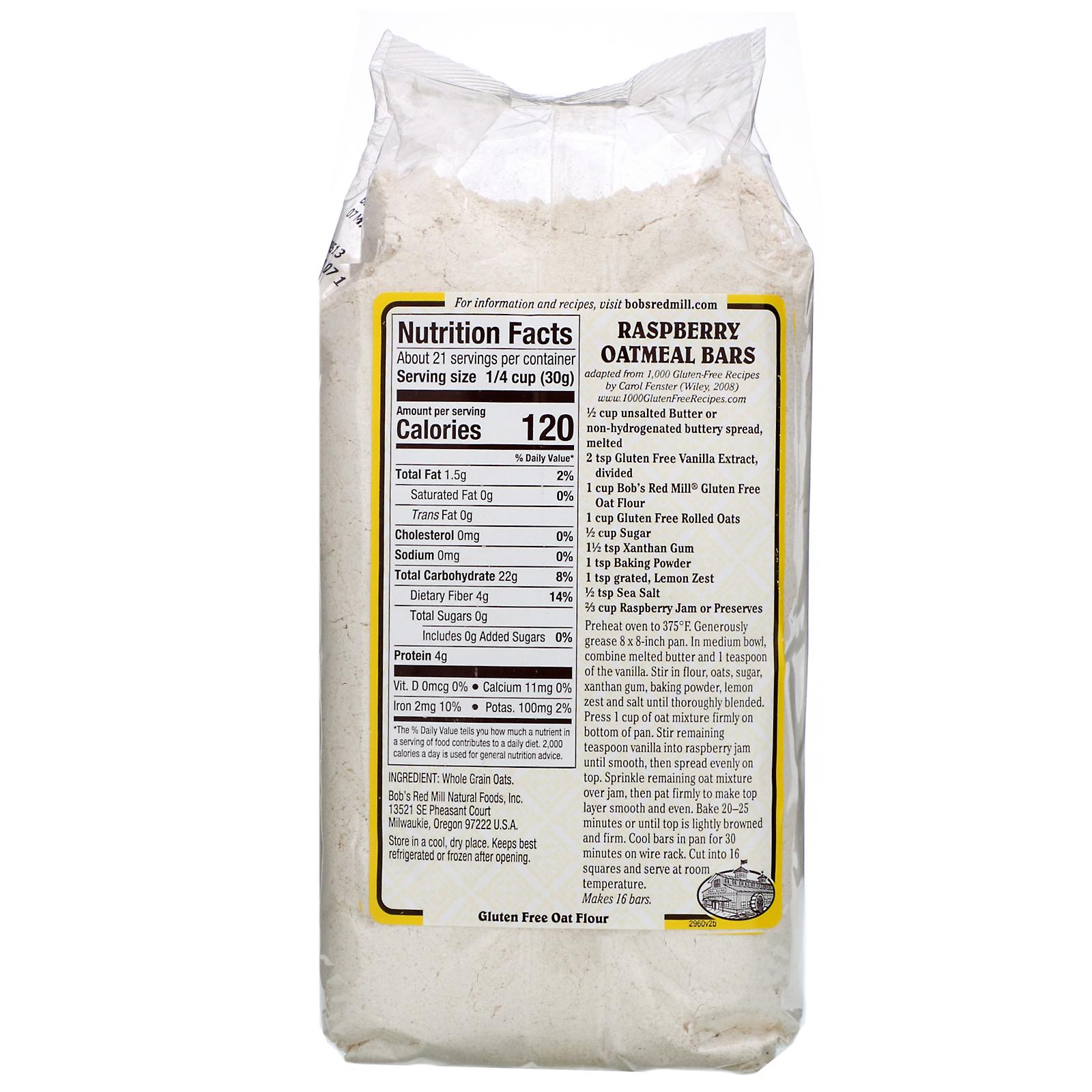 Oat Flour, Whole Grain, Gluten Free