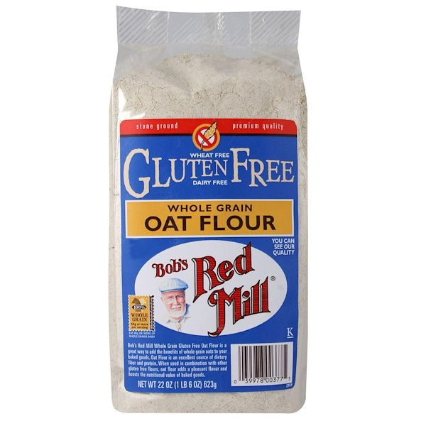 Bob's Red Mill, Whole Grain Oat Flour, Gluten Free, 22 oz (623 g)