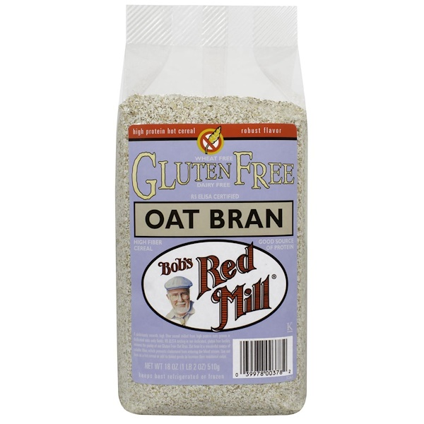 Bob's Red Mill, Oat Bran, Gluten Free, 18 oz (510 g) (Discontinued Item)