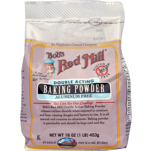 Bob's Red Mill, Baking Powder, Gluten Free, 16 oz (453 g) (Discontinued Item)