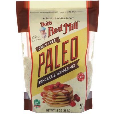 Bob's Red Mill Paleo Pancake & Waffle Mix, Grain Free, Gluten Free, 13 oz (368 g)
