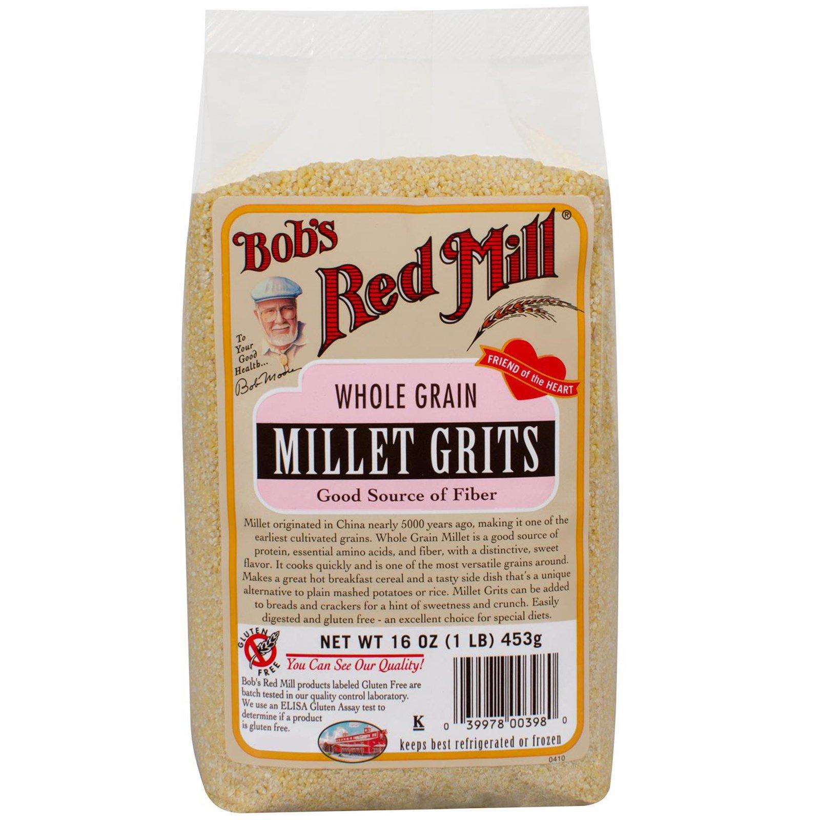 Bob's Red Mill, Цельное зерно проса мелкого помола, 16 унций (453 г)