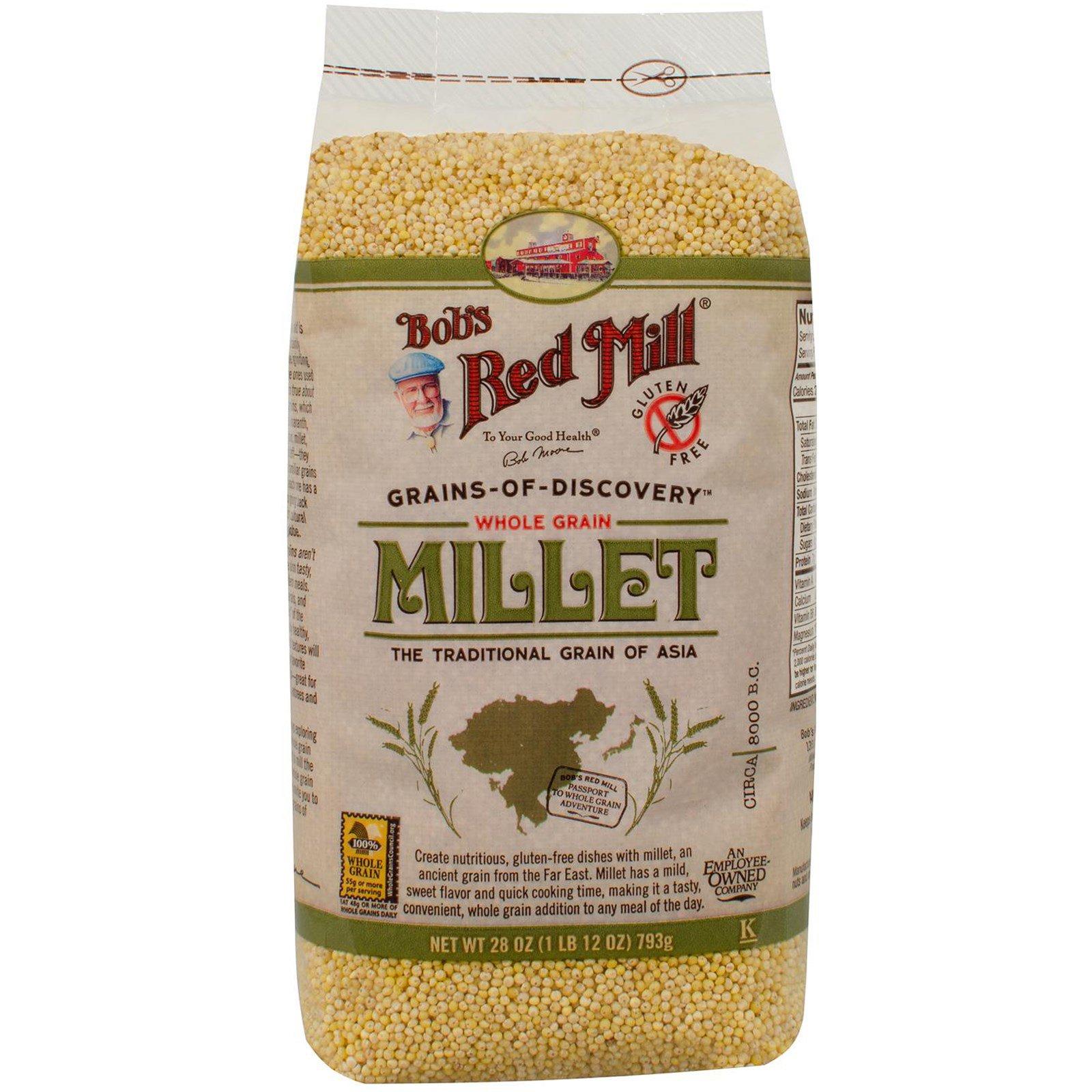 Bob's Red Mill, Цельные зерна проса, 28 унций (793 г)