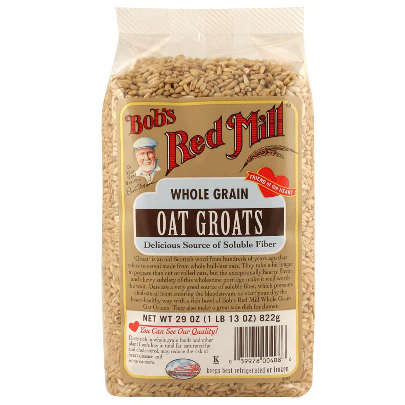 Bob's Red Mill, Цельнозерновая овсяная крупа, 29 унций (822 г)