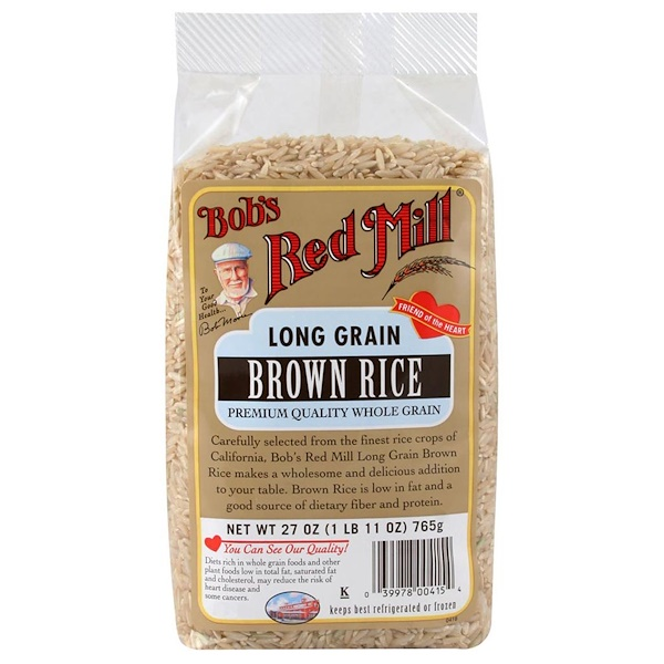 Bob's Red Mill, Long Grain Brown Rice, 27 oz (765 g) (Discontinued Item)
