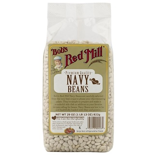Bob's Red Mill, Navy Beans, 29 oz (822 g)