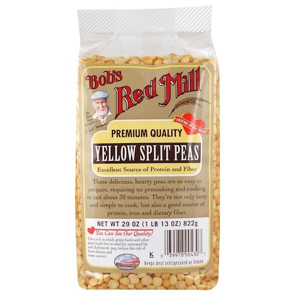 Bob's Red Mill, Желтый колотый горох, 29 унций (922 г) (Discontinued Item)