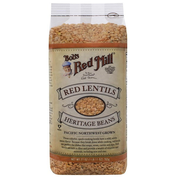 Bob's Red Mill, Red Lentils Heritage Beans, 27 oz (765 g) (Discontinued Item)
