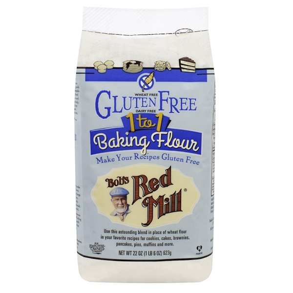 Bob's Red Mill, 1 to 1 Baking Flour, 22 oz (623 g) (Discontinued Item)