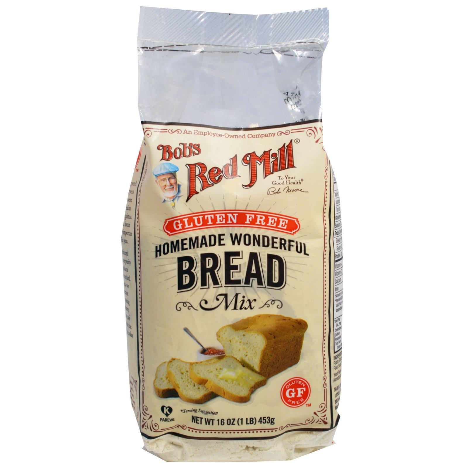 Bob S Red Mill Homemade Wonderful Bread Mix Gluten Free 16 Oz 453 G Iherb