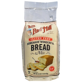 Bob's Red Mill, Homemade Wonderful Bread Mix, Gluten Free, 16 oz (453 g)