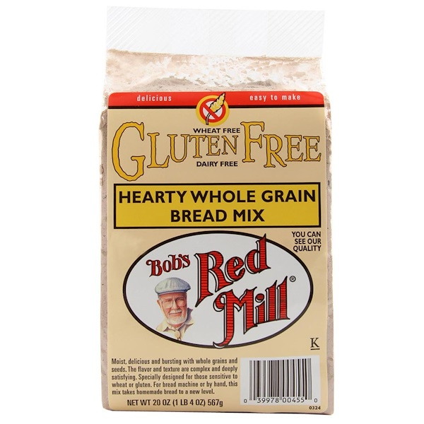Bob's Red Mill, Hearty Whole Grain Bread Mix, Gluten Free, 20 oz (567 g) (Discontinued Item)