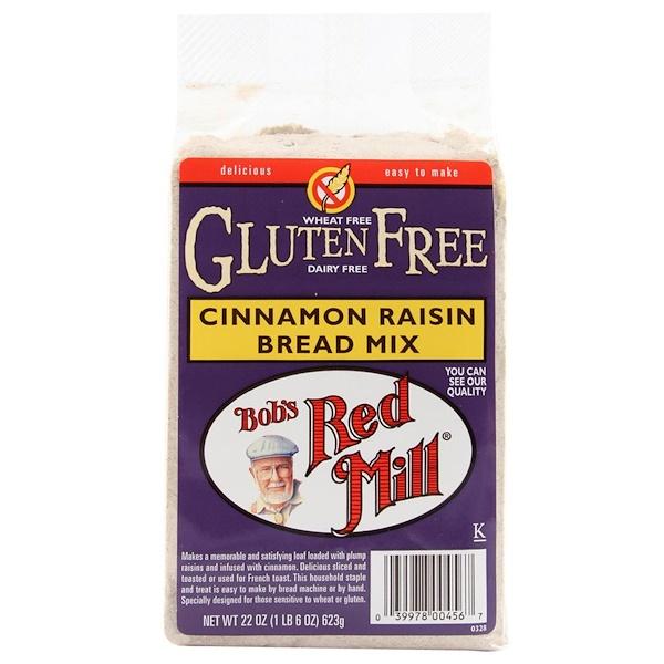 Bob's Red Mill, Gluten Free Cinnamon Raisin Bread Mix, 22 oz (623 g) (Discontinued Item)