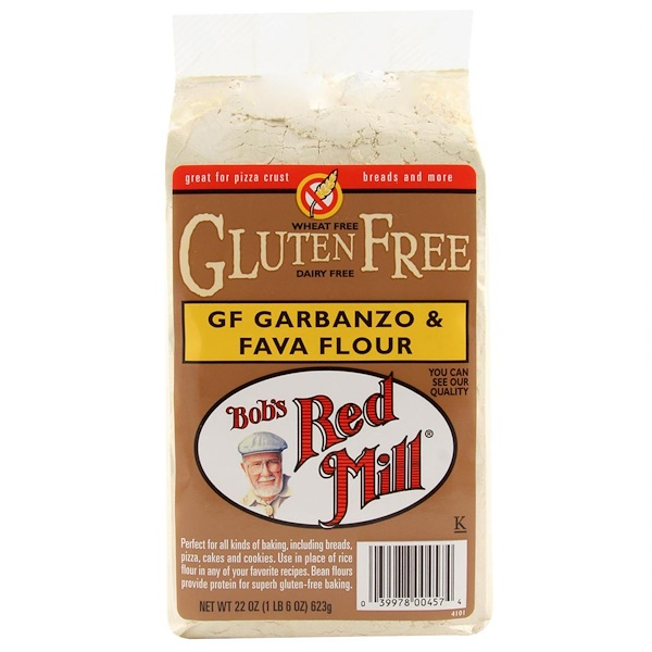 Bob's Red Mill, Garbanzo & Fava Flour, Gluten Free, 22 oz (623 g)
