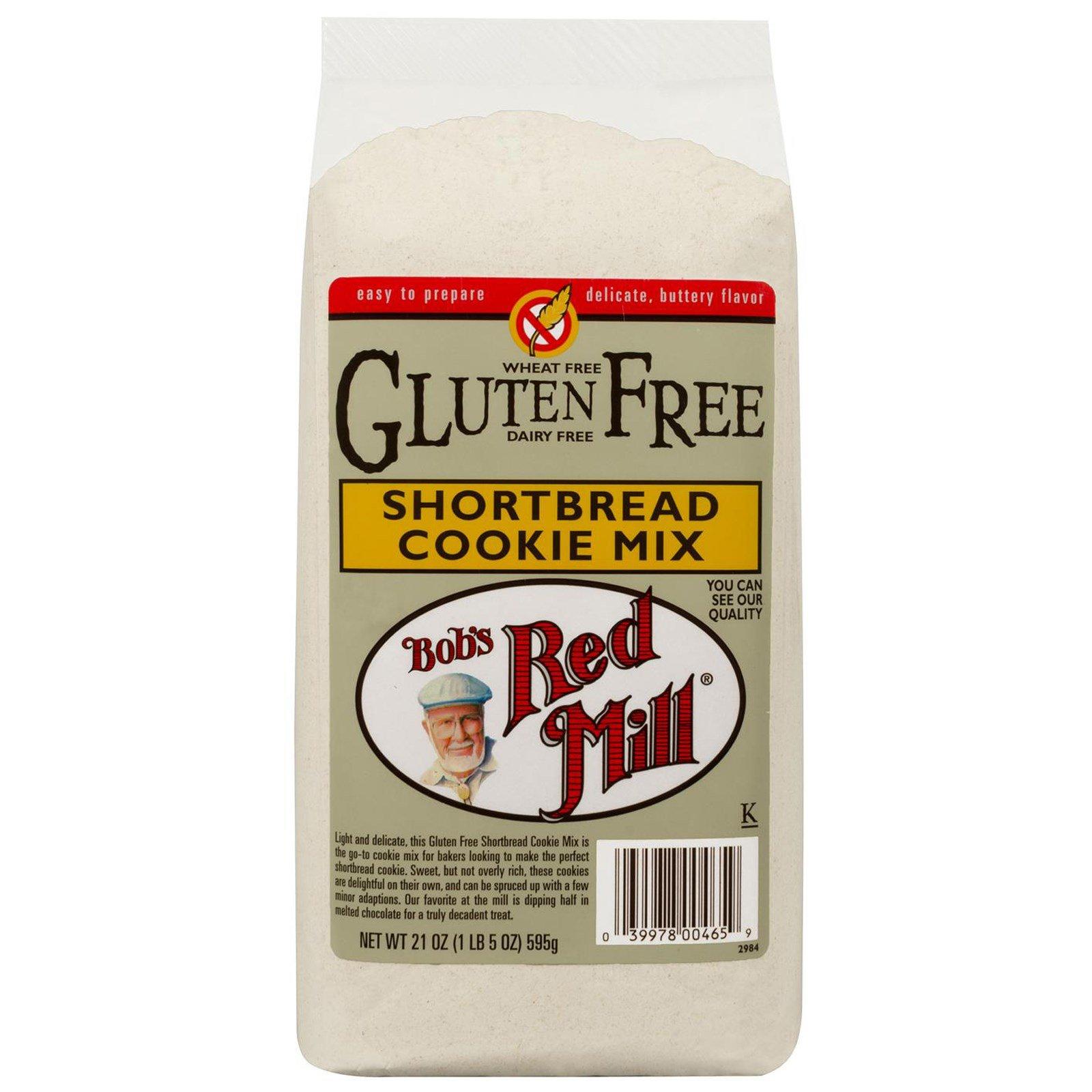 Bob's Red Mill, Смесь для песочного печенья без глютена, 21 унций (595 г)