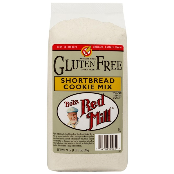 Bob's Red Mill, Gluten Free Shortbread Cookie Mix, 21 oz (595 g) (Discontinued Item)