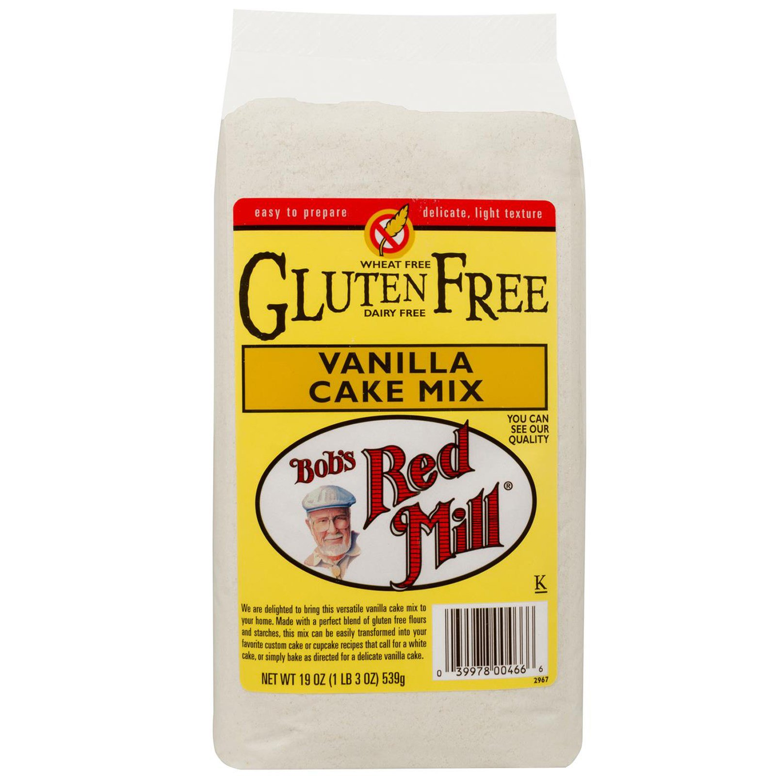 Bob's Red Mill, Gluten Free Vanilla Cake Mix, 19 oz (539 g)