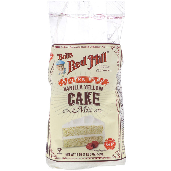 Bob's Red Mill, Vanilla Yellow Cake Mix, Gluten Free, 19 oz (539 g) (Discontinued Item)