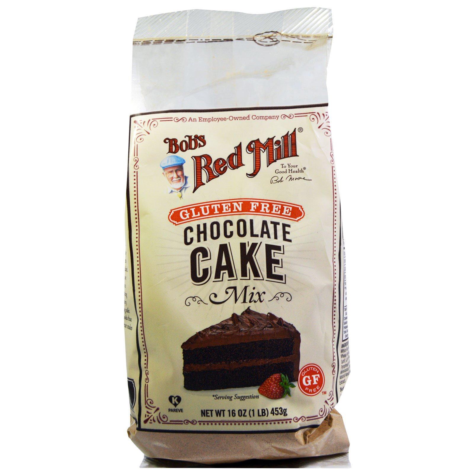 Bob's Red Mill, Смесь для тортов с шоколадом и без глютена, 16 унций (453 г)