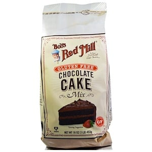 Бобс Рэд Милл, Chocolate Cake Mix, Gluten Free, 16 oz (453 g) отзывы покупателей
