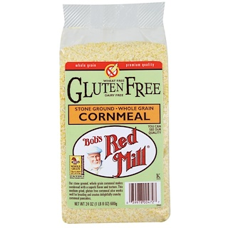 Bob's Red Mill, Cornmeal, Gluten Free, 24 oz (680 g)