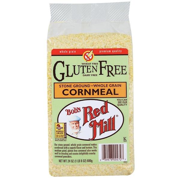 Bob's Red Mill, Cornmeal, Gluten Free, 24 oz (680 g) (Discontinued Item)