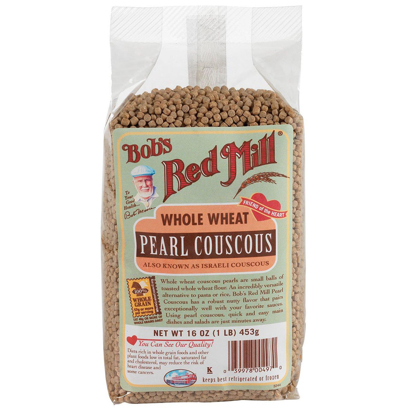 Bob S Red Mill Pearl Couscous Whole Wheat 16 Oz 453 G Iherb