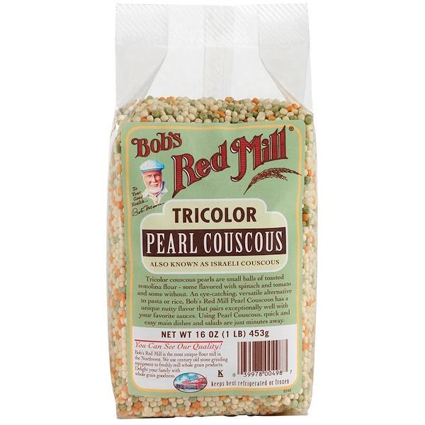 Bob's Red Mill, كسكس اللؤلة ثلاثي الألوان، 16 أوقية (453 غرام) (Discontinued Item)
