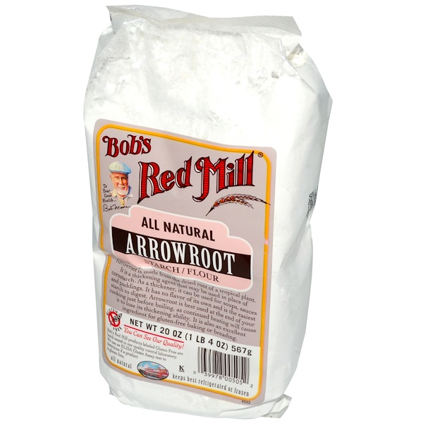 Bob's Red Mill, Arrowroot Starch/Flour, All Natural, 20 oz (567 g) (Discontinued Item)