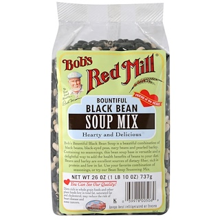 Bob's Red Mill, Bountiful, Black Bean, Soup Mix, 1.6 lbs (737 g)