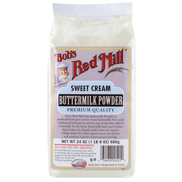 Bob's Red Mill, Sweet Cream Buttermilk Powder, 1.5 lbs (680 g)