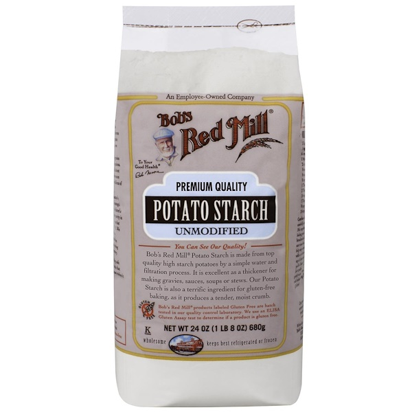 Bob's Red Mill, ボブズレッドミル, Potato Starch, Unmodified, 24 oz (680 g)