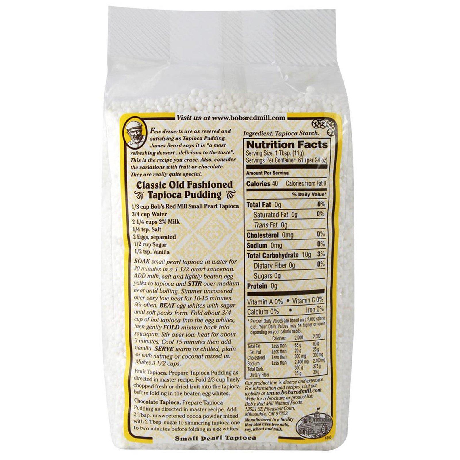 Bob's Red Mill, Small Pearl Tapioca, 1 5 lbs (680 g) - iHerb com