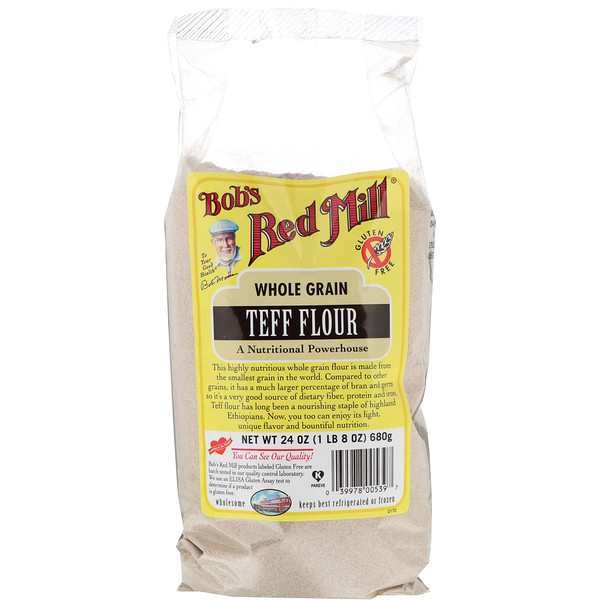 Bob's Red Mill, Teff Flour, Whole Grain, 24 oz (680 g)