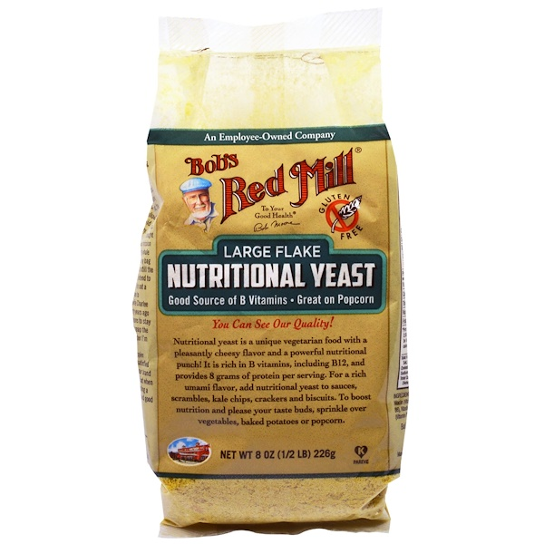 Bob's Red Mill, Large Flake Nutritional Food Yeast, 8 oz (226 g) (Discontinued Item)